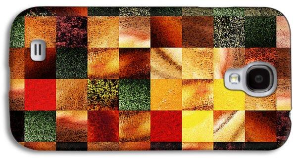 Geometric Abstract Design Sunset Squares Galaxy S4 Case by Irina Sztukowski