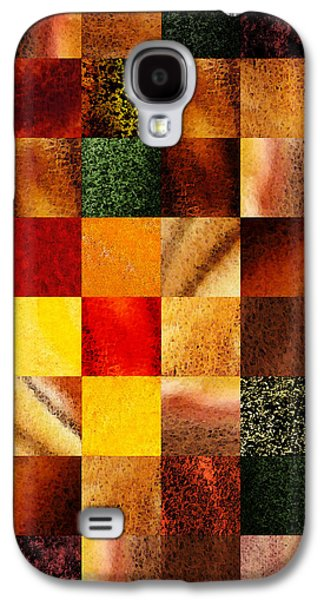 Geometric Design Squares Pattern Abstract II Galaxy S4 Case by Irina Sztukowski