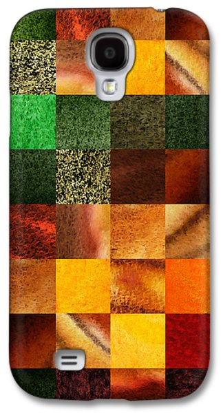 Geometric Design Squares Pattern Abstract IIi  Galaxy S4 Case by Irina Sztukowski