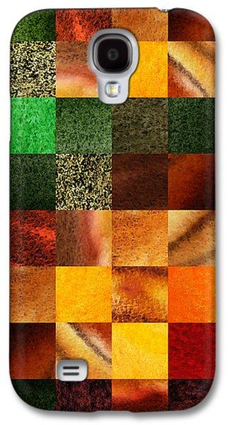 Geometric Design Squares Pattern Abstract IIi  Galaxy S4 Case by Irina Sztukowski