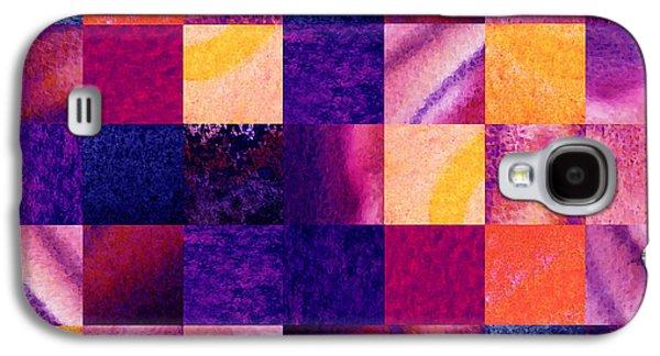 Geometric Design Squares Pattern Abstract Iv Galaxy S4 Case by Irina Sztukowski