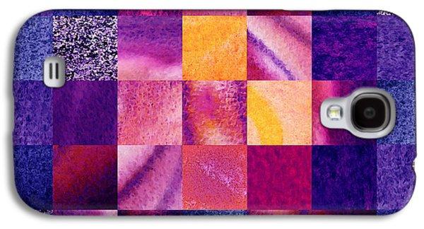 Geometric Design Squares Pattern Abstract Vi  Galaxy S4 Case by Irina Sztukowski