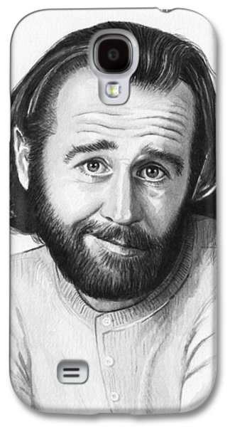 George Carlin Portrait Galaxy S4 Case