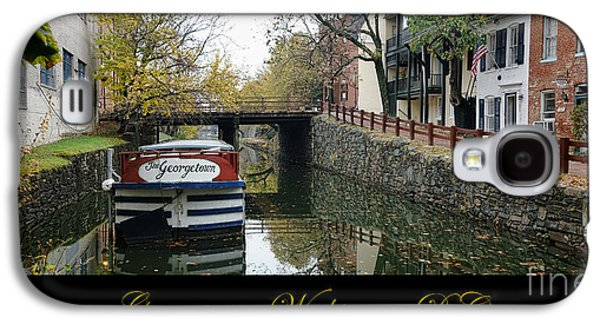 Georgetown Canal Poster Galaxy S4 Case by Olivier Le Queinec