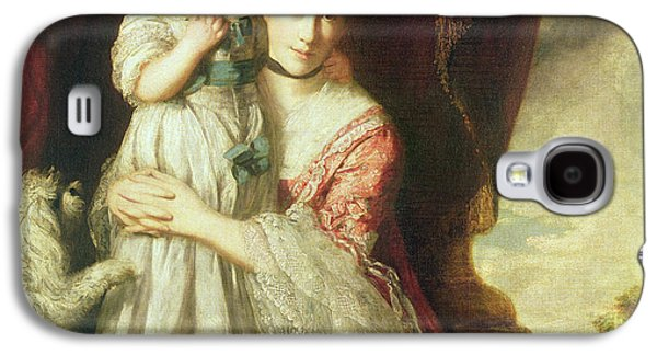 Georgiana, Countess Spencer With Lady Georgiana Spencer, 1759-61 Oil On Canvas Galaxy S4 Case by Sir Joshua Reynolds