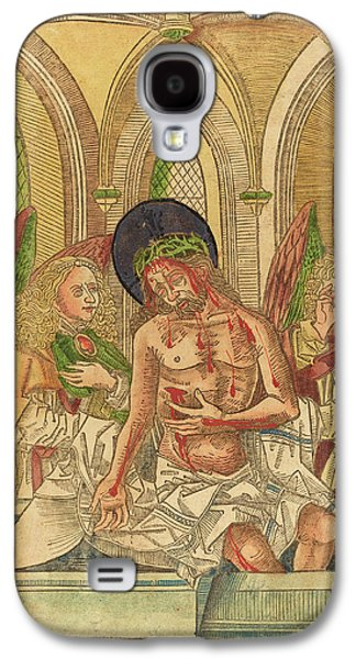 German 15th Century, Christ In The Tomb With Two Angels Galaxy S4 Case by Quint Lox