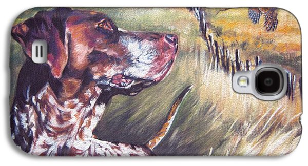 German Shorthaired Pointer And Pheasants Galaxy S4 Case by Lee Ann Shepard