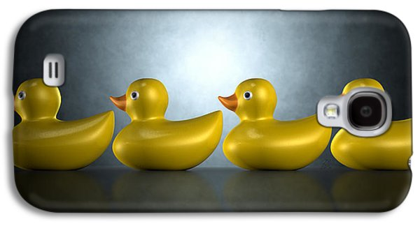 Get Your Ducks In A Row Galaxy S4 Case by Allan Swart