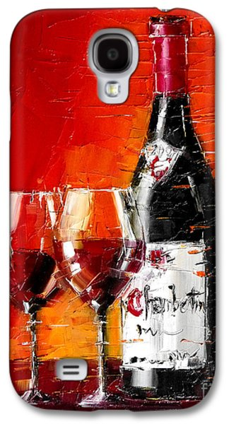 Still Life With Wine Bottle And Glass IIi Galaxy S4 Case