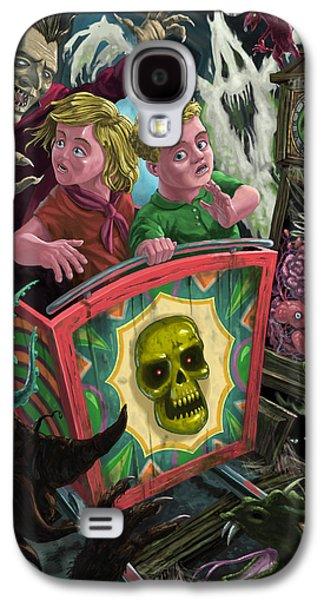 Ghost Train Fun Fair Kids Galaxy S4 Case by Martin Davey
