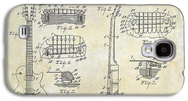 Gibson Les Paul Patent Drawing Galaxy S4 Case by Jon Neidert