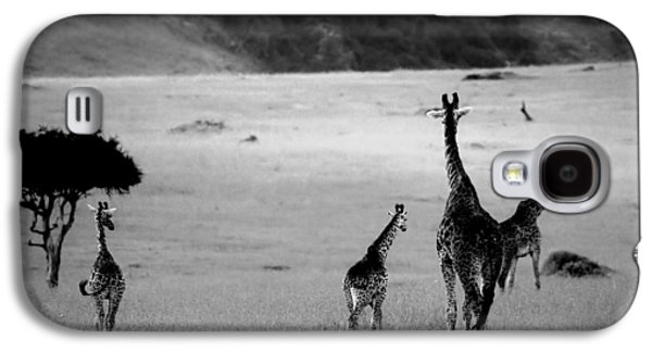 Giraffe In Black And White Galaxy S4 Case by Sebastian Musial