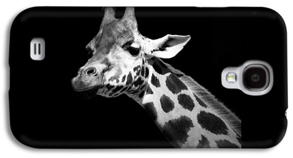 Portrait Of Giraffe In Black And White Galaxy S4 Case by Lukas Holas