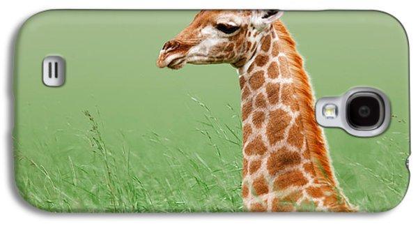 Giraffe Lying In Grass Galaxy S4 Case