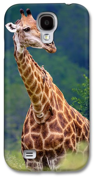 Giraffe Portrait Closeup Galaxy S4 Case
