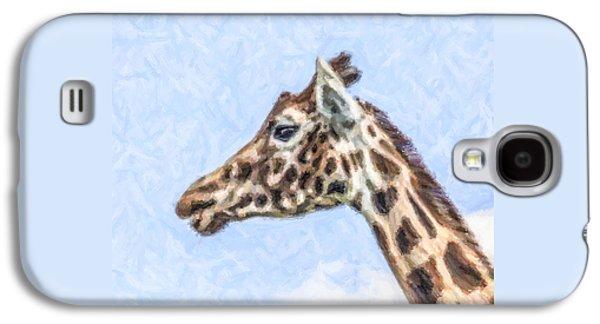 Giraffe Portrait Galaxy S4 Case by Liz Leyden
