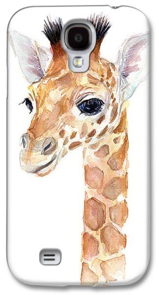 Giraffe Watercolor Galaxy S4 Case by Olga Shvartsur