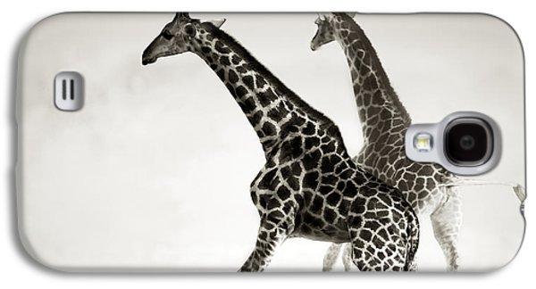 Giraffes Fleeing Galaxy S4 Case by Johan Swanepoel