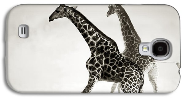 Giraffes Fleeing Galaxy S4 Case by Johan Swanepoel