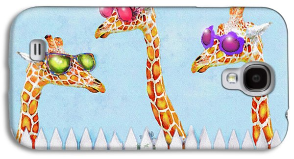 Giraffes In Sunglasses Galaxy S4 Case by Jane Schnetlage
