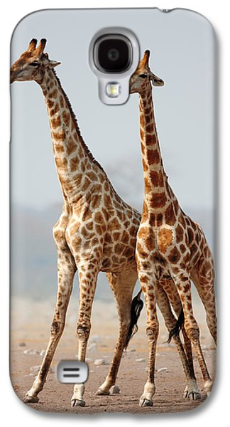 Giraffes Standing Together Galaxy S4 Case by Johan Swanepoel