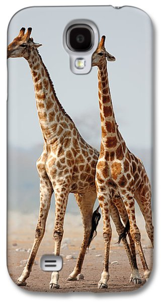 Giraffes Standing Together Galaxy S4 Case