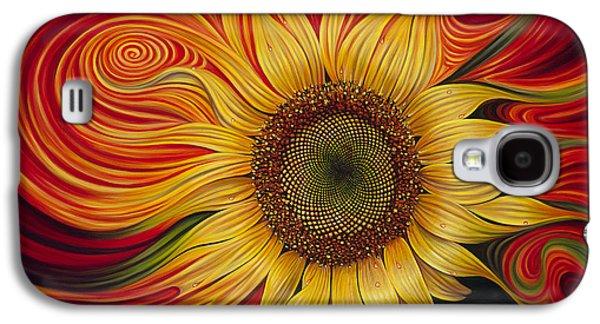 Sunflower Galaxy S4 Case - Girasol Dinamico by Ricardo Chavez-Mendez
