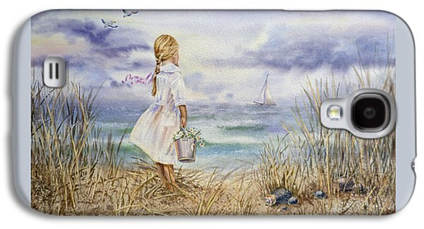 Girl At The Ocean Galaxy S4 Case by Irina Sztukowski