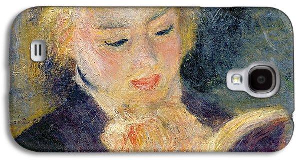Girl Reading Galaxy S4 Case by Pierre Auguste Renoir