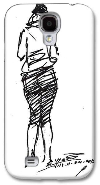 Girl Sketch Galaxy S4 Case
