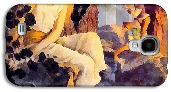 Girl With Elfs Galaxy S4 Case by Maxfield Parrish