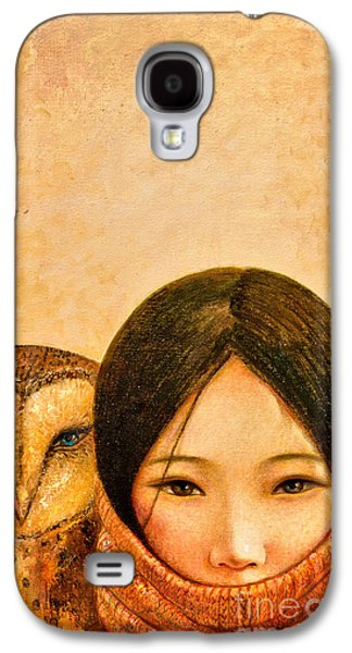 Girl With Owl Galaxy S4 Case