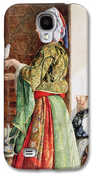 Girl With Two Caged Doves, Cairo, 1864 Galaxy S4 Case by John Frederick Lewis