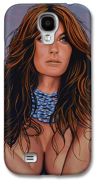 Gisele Bundchen Painting Galaxy S4 Case by Paul Meijering