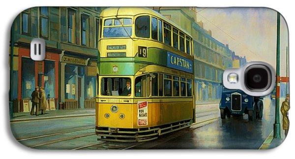 Glasgow Tram. Galaxy S4 Case by Mike  Jeffries