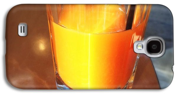 Glass With Orange Fruit Juice Galaxy S4 Case