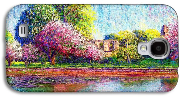 Glastonbury Abbey Lily Pool Galaxy S4 Case by Jane Small