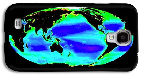 Global Chlorophyll Levels Galaxy S4 Case by Nasa/seawifs/geoeye
