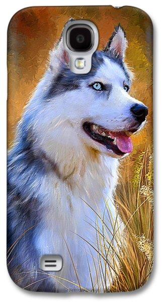Glorious Pride - Siberian Husky Portrait Galaxy S4 Case by Lourry Legarde