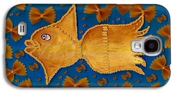 Goldfish Mixed Media Galaxy S4 Cases - Glowing  Gold Fish Galaxy S4 Case by Pepita Selles