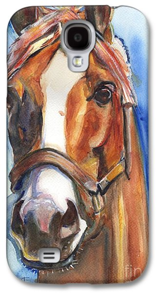 Horse Painting Of California Chrome Go Chrome Galaxy S4 Case