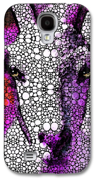 Goat - Pinky - Stone Rock'd Art By Sharon Cummings Galaxy S4 Case by Sharon Cummings
