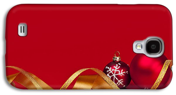 Gold And Red Christmas Decorations Galaxy S4 Case