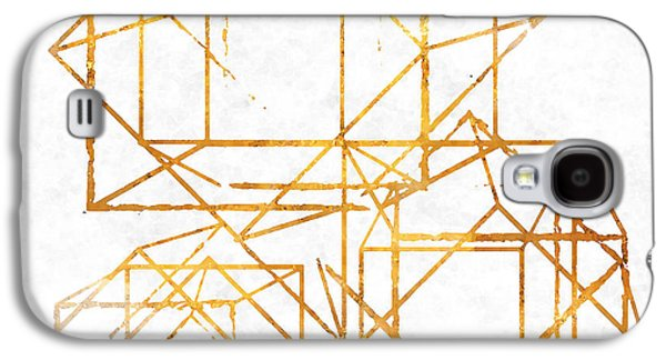 Pattern Galaxy S4 Case - Gold Cubed I by South Social Studio
