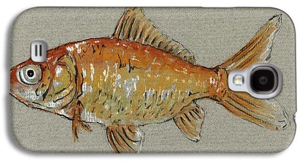 Gold Galaxy S4 Case - Gold Fish by Juan  Bosco