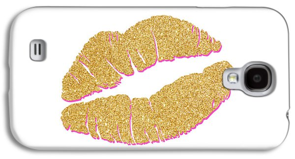 Gold Kiss Galaxy S4 Case by South Social Studio
