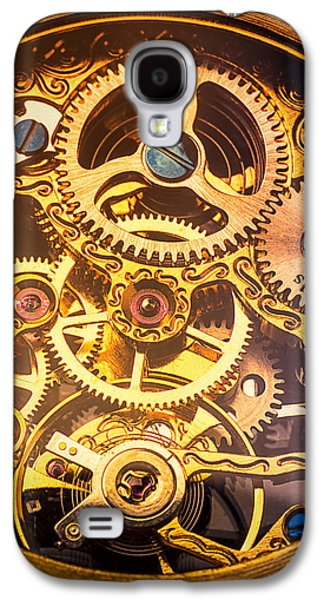 Gold Pocket Watch Gears Galaxy S4 Case