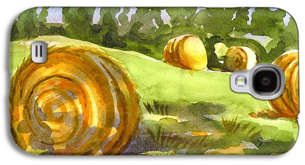 Golden Bales In The Morning Galaxy S4 Case by Kip DeVore