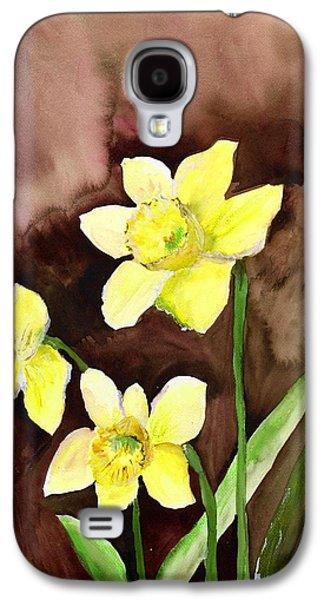Golden Daffodils Galaxy S4 Case by Neela Pushparaj