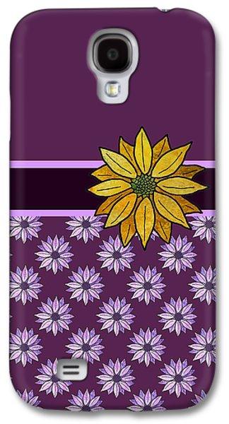 Golden Daisy On Plum Galaxy S4 Case by Jenny Armitage